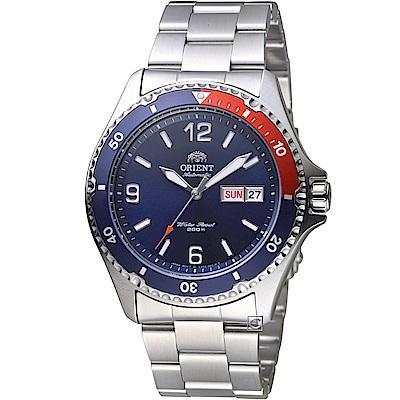 ORIENT 潛艇戰艦200M潛水機械錶(FAA02009D)紅x藍/41mm