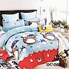 BEDDING-柔絲絨5尺雙人薄床包三件組-傳奇龍貓