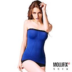Mollifix瑪莉菲絲 鎖骨美學完美肩線平腹輕塑衣(寶石藍)