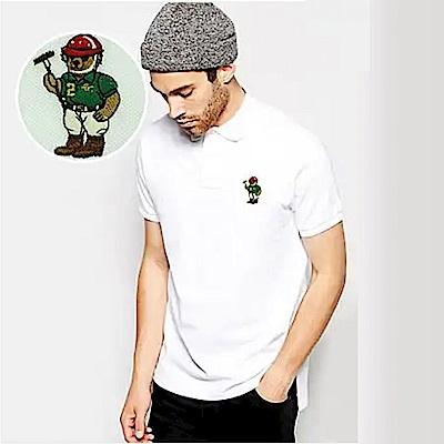 Polo Rlaph Lauren 年度熱銷限定泰迪熊刺繡短袖Polo衫-白色