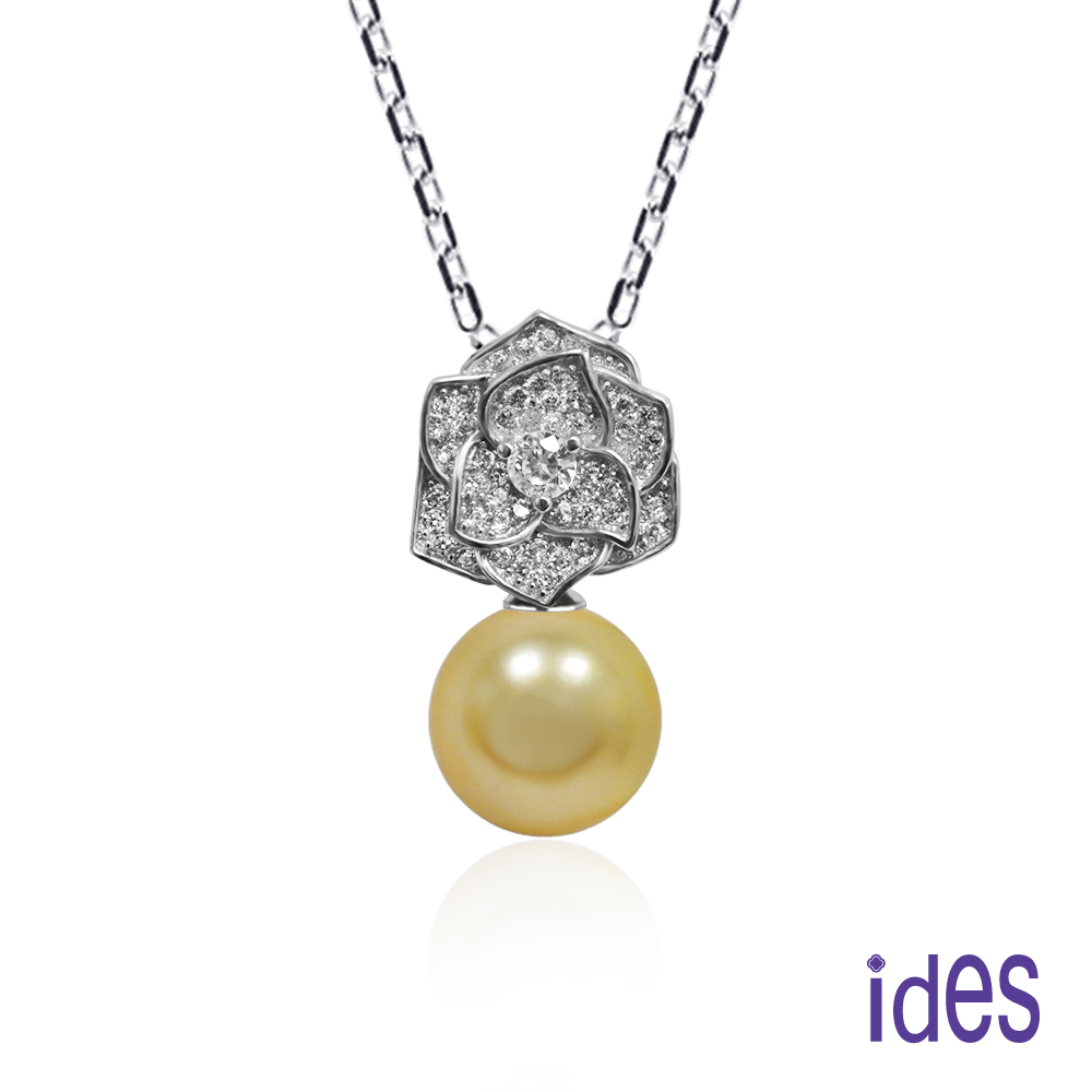 ides愛蒂思 限量天然南洋珠項鍊/金色10mm/14K鍊(炫麗)