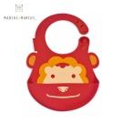 【麗嬰房】MARCUS&MARCUS 動物樂園矽膠立體圍兜(獅子)