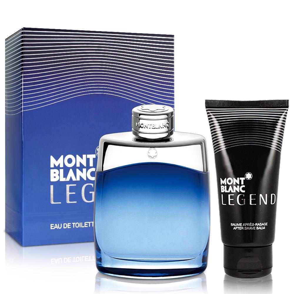 MONT BLANC萬寶龍傳奇藍調經典男性淡香水限量版(100ml)-送鬍後乳及針管