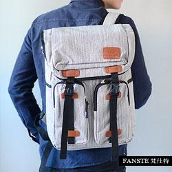 Fanste_梵仕特 帆布經典 電腦3C後背包-1535