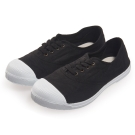(女)Natural World 西班牙休閒鞋 素面4孔基本款*黑色