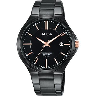 ALBA 玩轉時尚東京石英腕錶(AS9C07X1)-黑/40mm