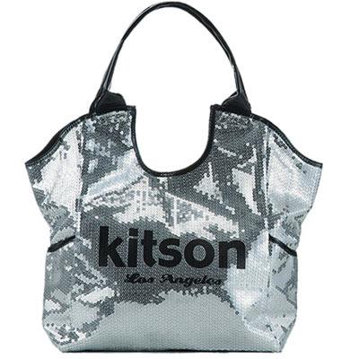 【kitson】  雙色亮片托特包 SILVER / BLACK
