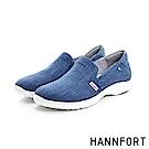 HANNFORT EASY WALK丹寧帆布氣墊鞋-女-深海藍