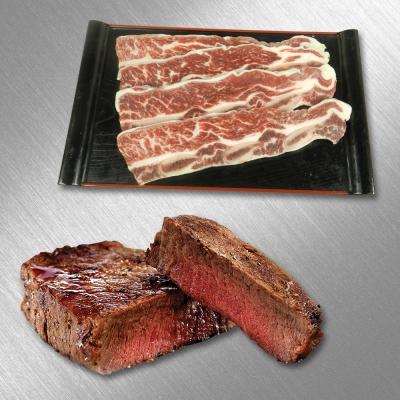饗讚買一送一 美國香煎帶骨牛小排+美國安格斯特級嫩肩8盎司牛排(各4包《共16包》)
