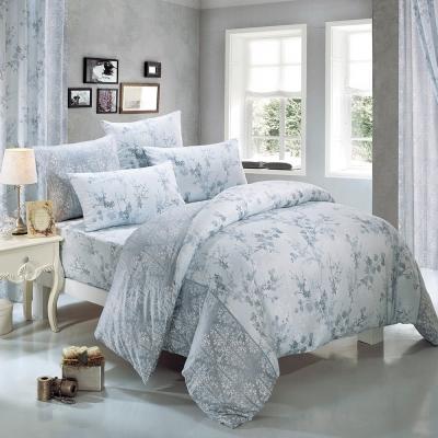 鴻宇HongYew 莫代爾-派翠西亞-藍 雙人四件式薄被套床包組