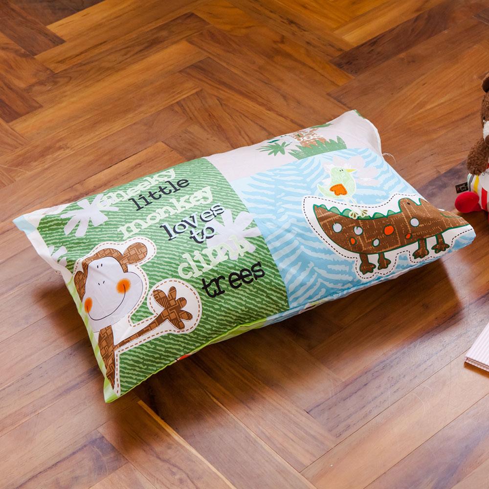 鴻宇HongYew 美國棉防蹣抗菌 探險樂園-兒童透氣多孔纖維枕
