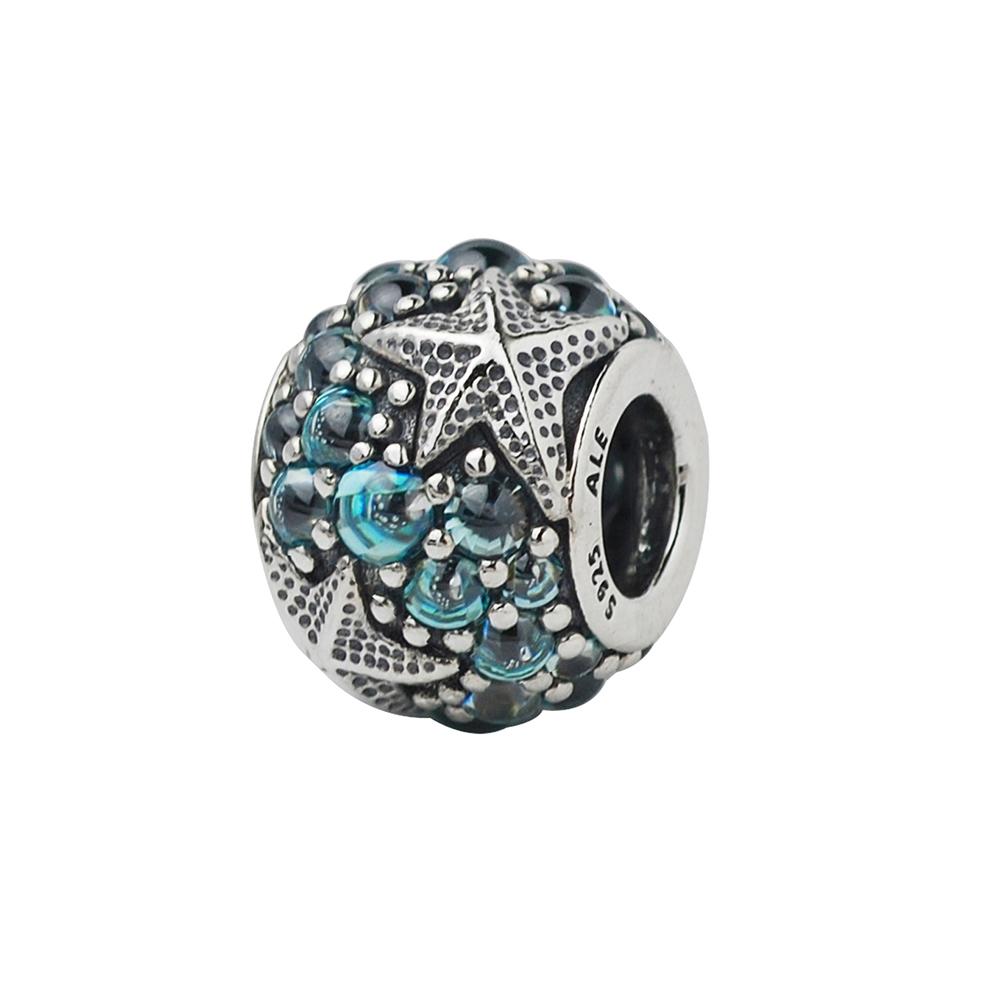Pandora潘朵拉藍鋯石立體海星墜