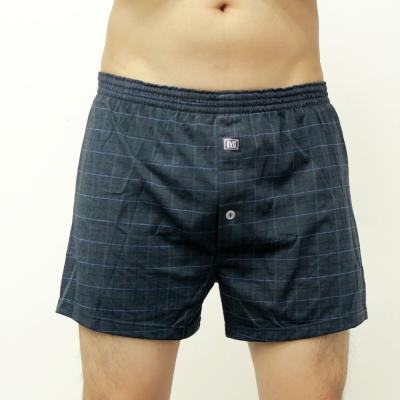 BVD  針織平口四角褲(深灰窗格紋)