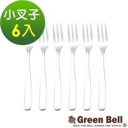 GREEN BELL綠貝晶緻純正304不鏽鋼水果叉(6入)