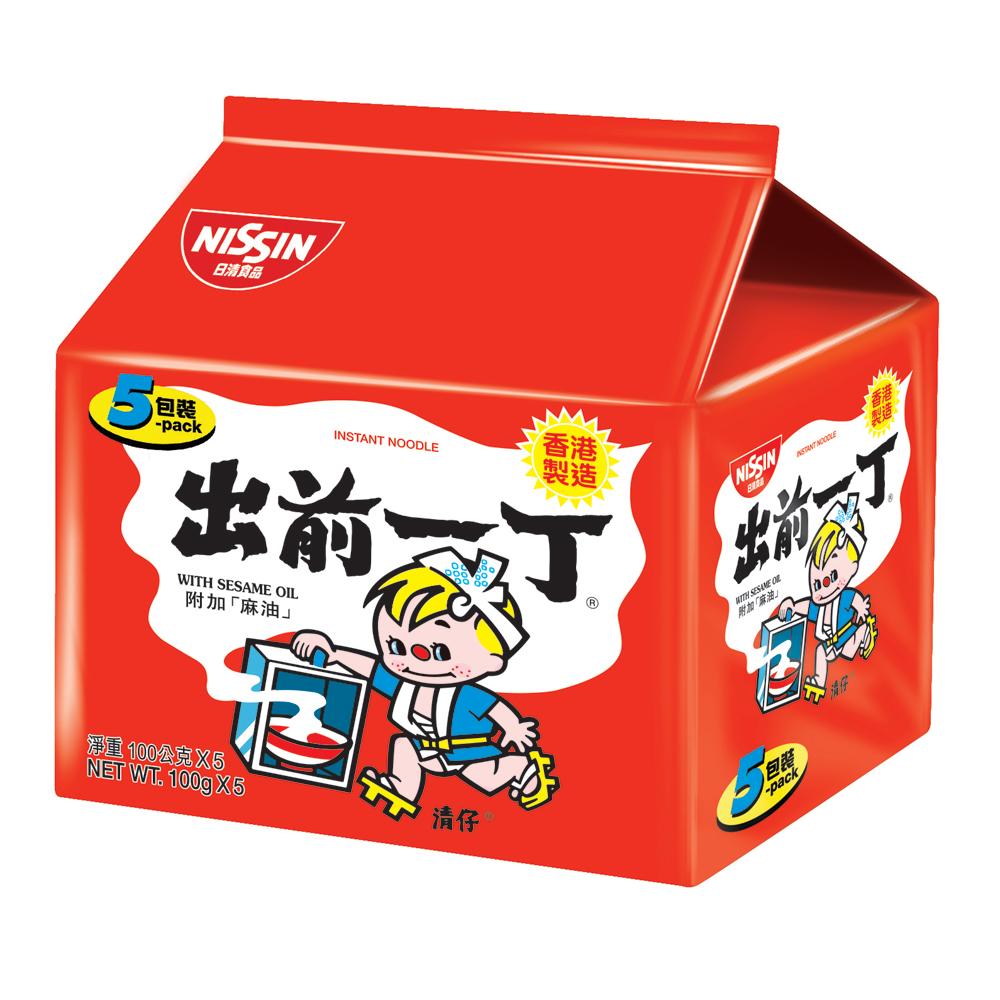 日清 出前一丁麻油味速食麵(100gx5入)