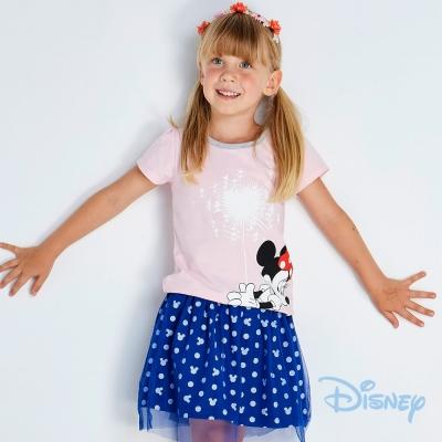 Disney米妮點點網紗褲裙 深藍