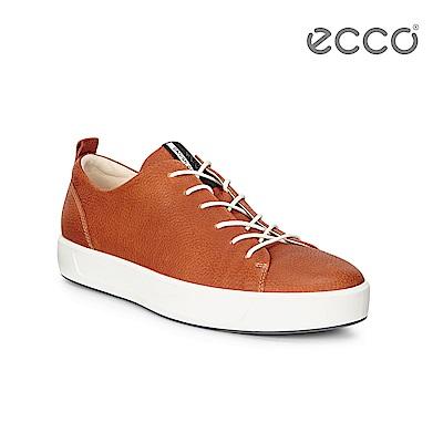 ECCO SOFT 8 MEN'S 簡約休閒鞋-褐