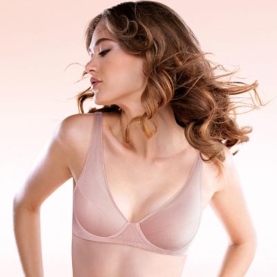 黛安芬-運動內衣Home Bra系列無鋼圈舒適款B-C罩杯(粉膚)