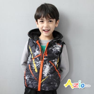 Azio Kids 童裝-背心 酷炫圖樣連帽背心(黑)