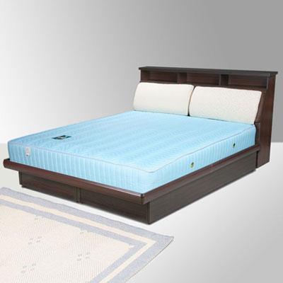 Homelike 黛絲6尺掀床組+獨立筒床墊-雙人加大(二色任選)