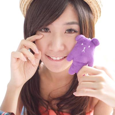 CRAFTHOLIC 宇宙人 紫色熊熊寶貝手機吊飾