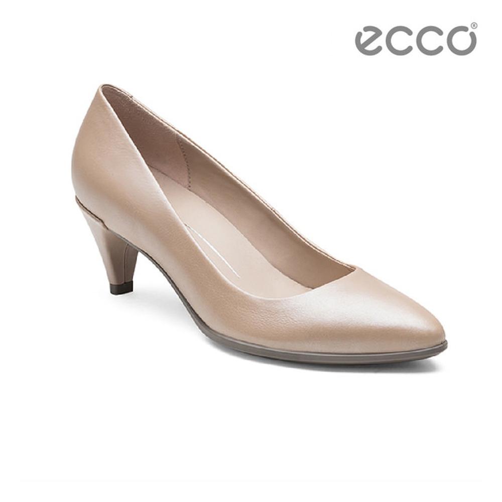 ECCO SHAPE 45 POINTY SLEEK 經典細跟尖頭跟鞋-粉