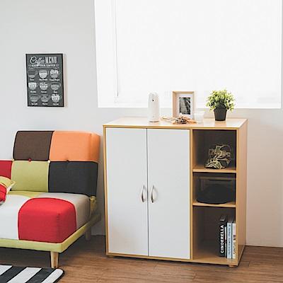 Home Feeling 衣櫃/衣櫥/雙門三層(2色)-90X48X90
