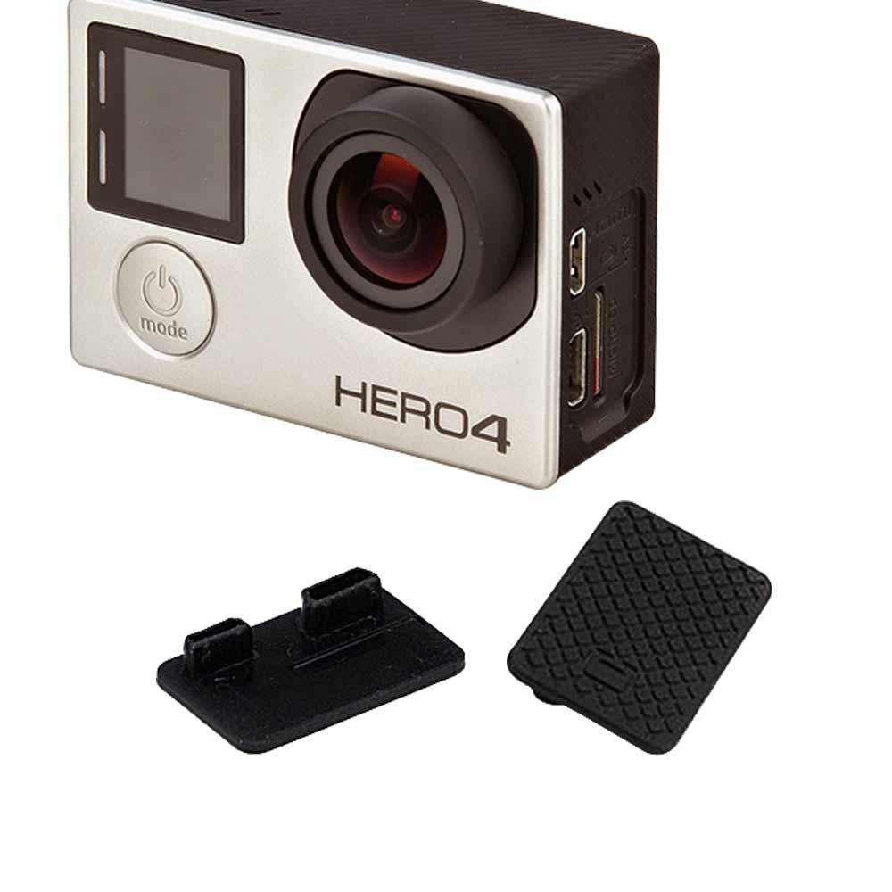 2入GoPro HERO 4 3副廠攝像機側蓋數據孔防塵保護蓋