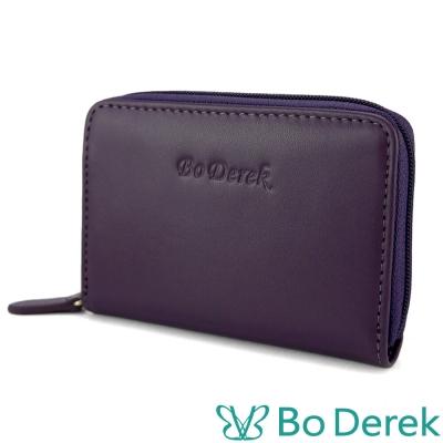Bo Derek小牛皮風琴卡片包-紫色