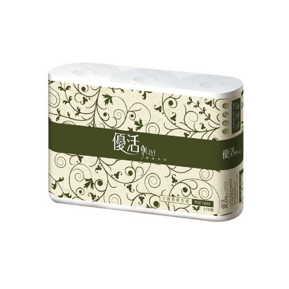 Livi 優活 小捲筒衛生紙270張6捲10袋x5箱