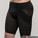 【EROSBODY】艾若斯健美 男士平腹提臀塑身褲(黑色)