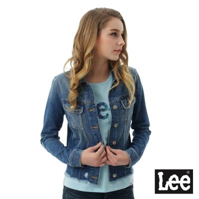 Lee 牛仔Vintage Laundry百搭易配外套-女-藍色