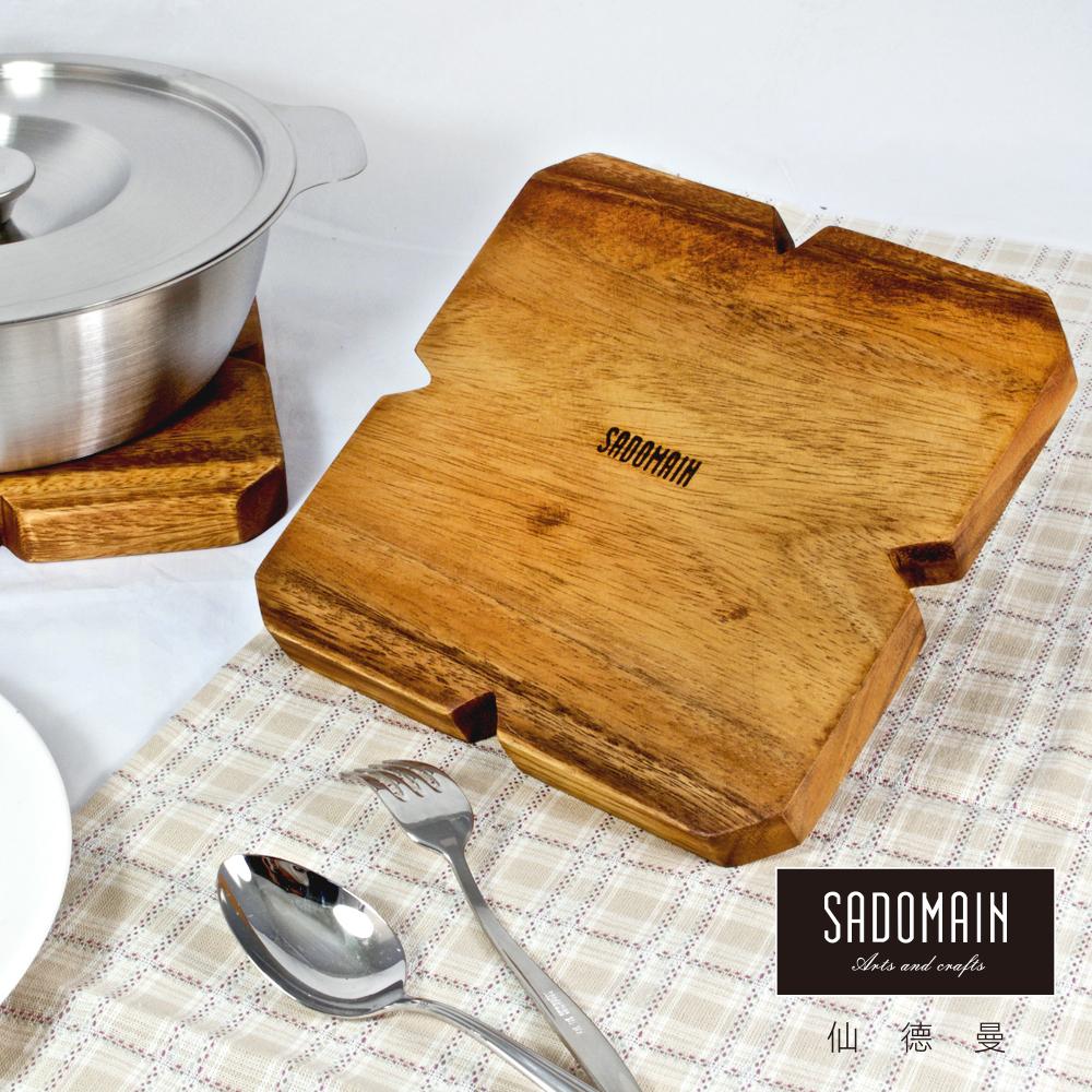 [買一送一] 仙德曼 SADOMAIN 方形洋槐原木餐具鍋墊