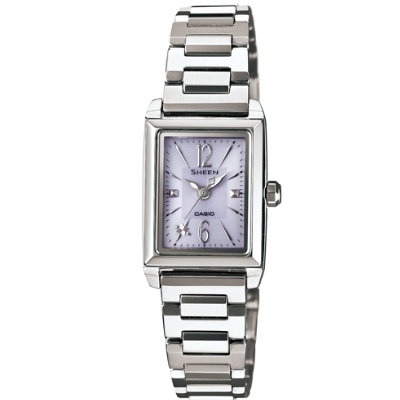 SHEEN 優雅時尚太陽能都會腕錶(SHE-4503SBD-6A)-紫/22mm