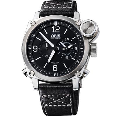 Oris BC4 Flight Timer 飛行機械腕錶-黑x銀/42.7mm