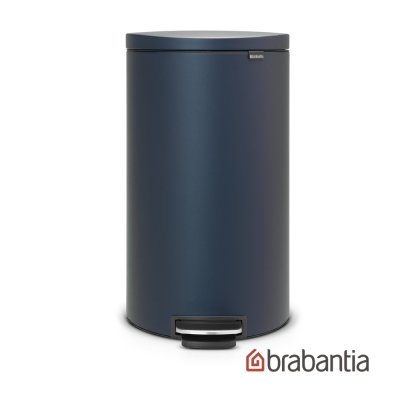 Brabantia Flatback半月腳踏式垃圾桶30L寶藍色