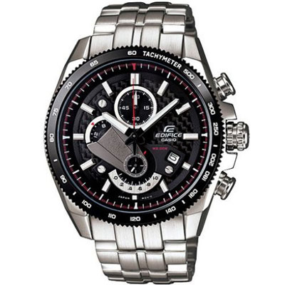 EDIFICE 極簡恆星三眼賽車運動錶(EFR-513SP-1A)-黑/45.4mm