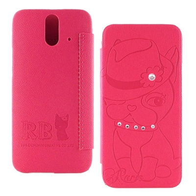 Rebecca Bonbon HTC One (E8) 爵士甜心手繪時尚壓紋皮套