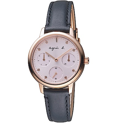 agnes b.粉戀佳人時尚腕錶(VD75-KPZ0U BP6021X1)