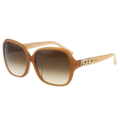 Salvatore Ferragamo- 時尚太陽眼鏡(牛奶糖色)
