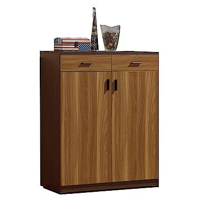 品家居  丹捷2.7尺雙色二門二抽鞋櫃-80.5x32x101cm免組