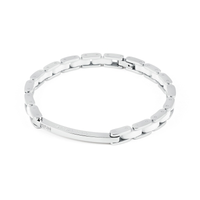 Brosway   Elegance 白陶瓷施華洛世奇元素不鏽鋼手鍊 205mm