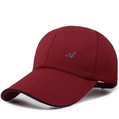 幸福揚邑 防風防曬舒適透氣戶外運動字母刺繡棒球帽鴨舌帽-暗紅