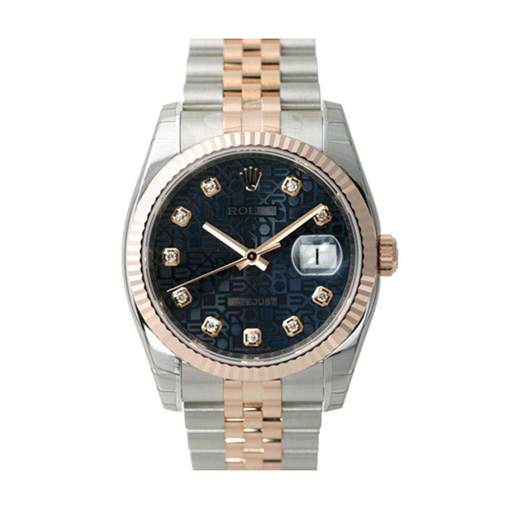 ROLEX 勞力士 DateJust 116231 蠔式恆動玫瑰金日誌型錶-黑紀念鑽面/36mm