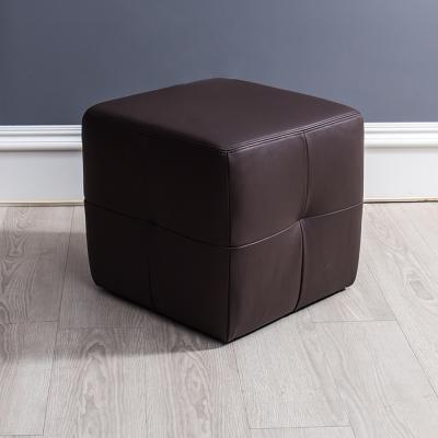 皮沙發 布萊茲全牛皮咖啡色腳椅 杰諾家居