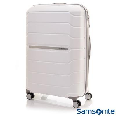 Samsonite新秀麗 32吋Octolite PP極輕量時尚雙輪TSA硬殼行李箱(白)
