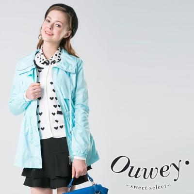 OUWEY歐薇-糖果色腰身風衣外套-共4色