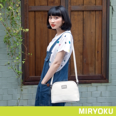 MIRYOKU-質感斜紋系列-清新休閒貝殼斜背包