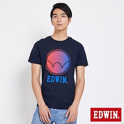 EDWIN 東京系列圓型漸層LOGO短袖T恤-男-丈青