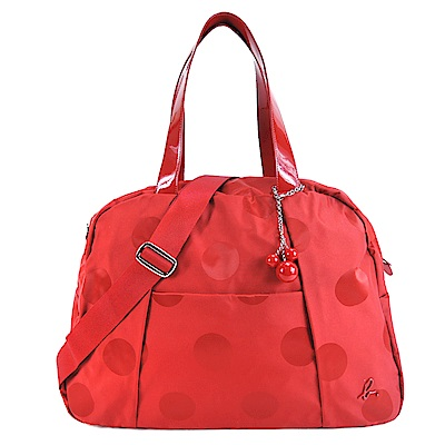 agnes.b 大圓點立體B串珠旅行袋-紅